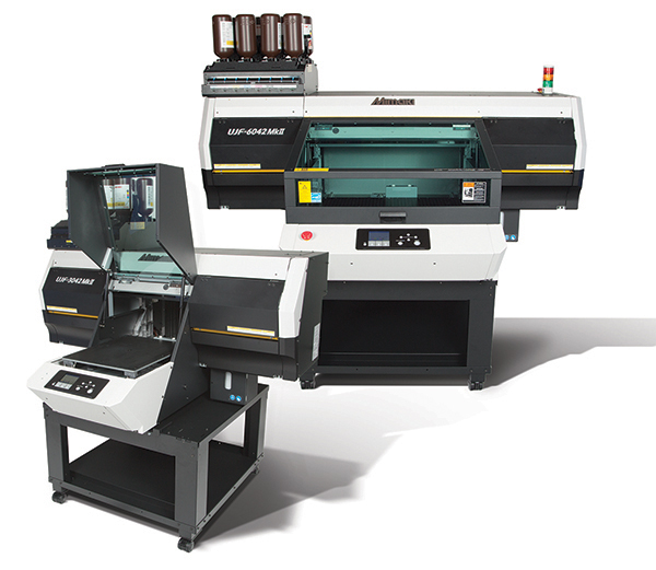 UJF MkII Series UV-LED tabletop flatbed printers