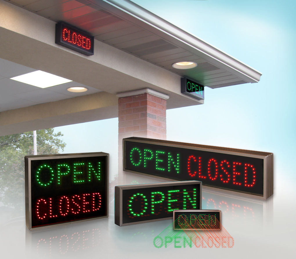 Outdoor LED Open-Closed Lane Control Signs