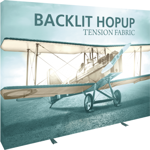 NEW Hopup Backlit 10ft Tension Fabric Backwall Display