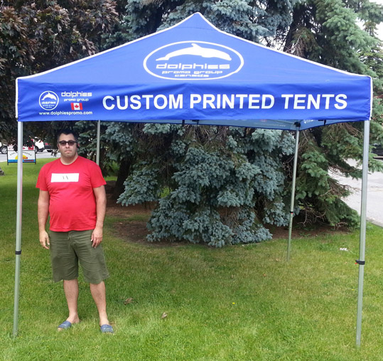 Heavy Duty Commercial Grade Pop Up TENT + Custom Dye-Sublimation Printed Canopy