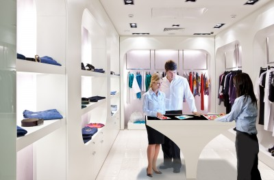 3M Multi-touch in Clothing Store