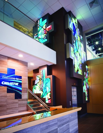 Christie new lobby digital signage display (for DSE press release)