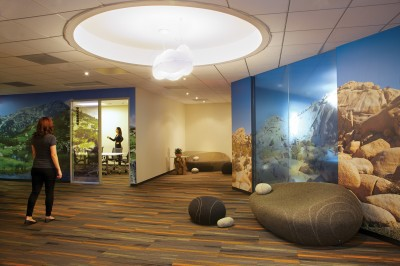 White ink is often printed onto clear media for applications that require some level of translucency, such as glass dividers, doors and windows for interior décor projects.
