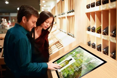 Touch-screen capabilities have been added to many LCDs in stores, providing a more interactive shopping experience.