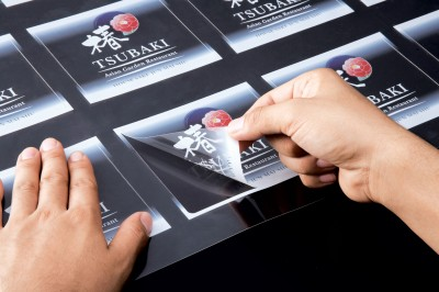 Beyond signage, white ink on clear media can commonly be found in product labelling and packaging.