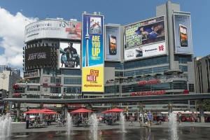 Dundas Square, Toronto.Sign and display graphics is a growing market that offers many opportunities across a variety of industries.
