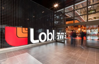 Whether customers enter from the corner of Church and Carlton Streets (left) or from the underground garage (right), they are greeted by the Loblaws logo. Photos by Trevor Mein