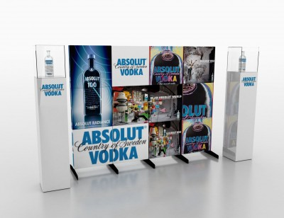 Absolut recently used stand-alone 'murals' to promote vodka in independent stores throughout Western Canada.