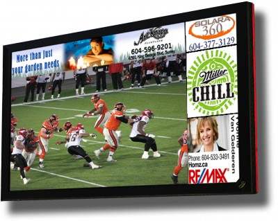 Updating promotions, ads and other on-screen content is simply a matter of a few computer keystrokes.