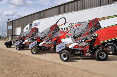 DC Signs & Designs in Leduc, Alta., has also wrapped race cars for local client Adams Racing. Photo courtesy DC Signs & Designs.