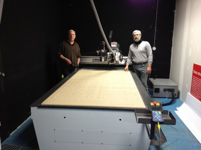Duff Graphics installed a CNC router-knife machine in fall 2011. Photo courtesy Multicam Canada