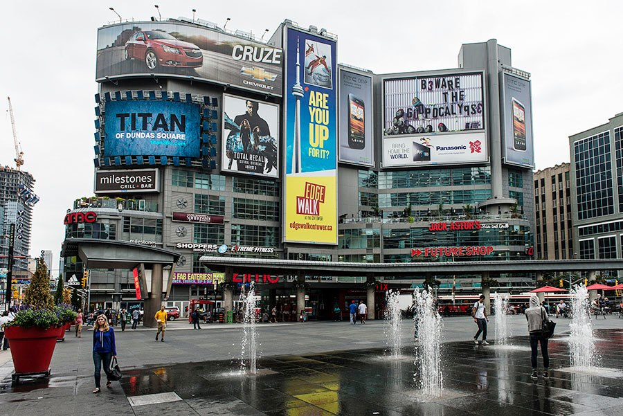 House Buyers Survey >> Yonge-Dundas Square billboards get a software upgrade ...