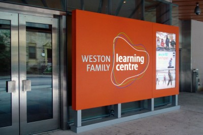 A dedicated public entrance provides visibility for the Weston Family Learning Centre, most of which is in a basement of the AGO.