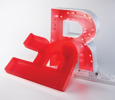 The sign cans for face-lit letters can be made of plastic or metal.