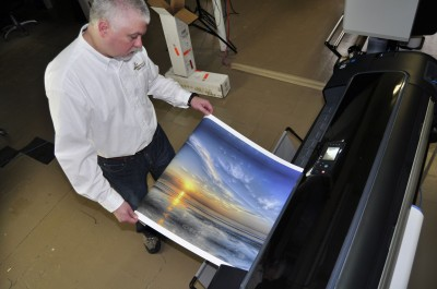 In the past, many printing companies used wide-format presses only to create proofs.