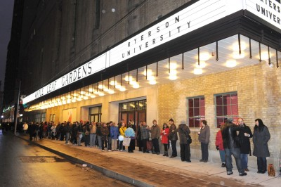 When the building was ready to reopen, locals lined up for hours to see the reworked interior. Photo by Trevor Mein