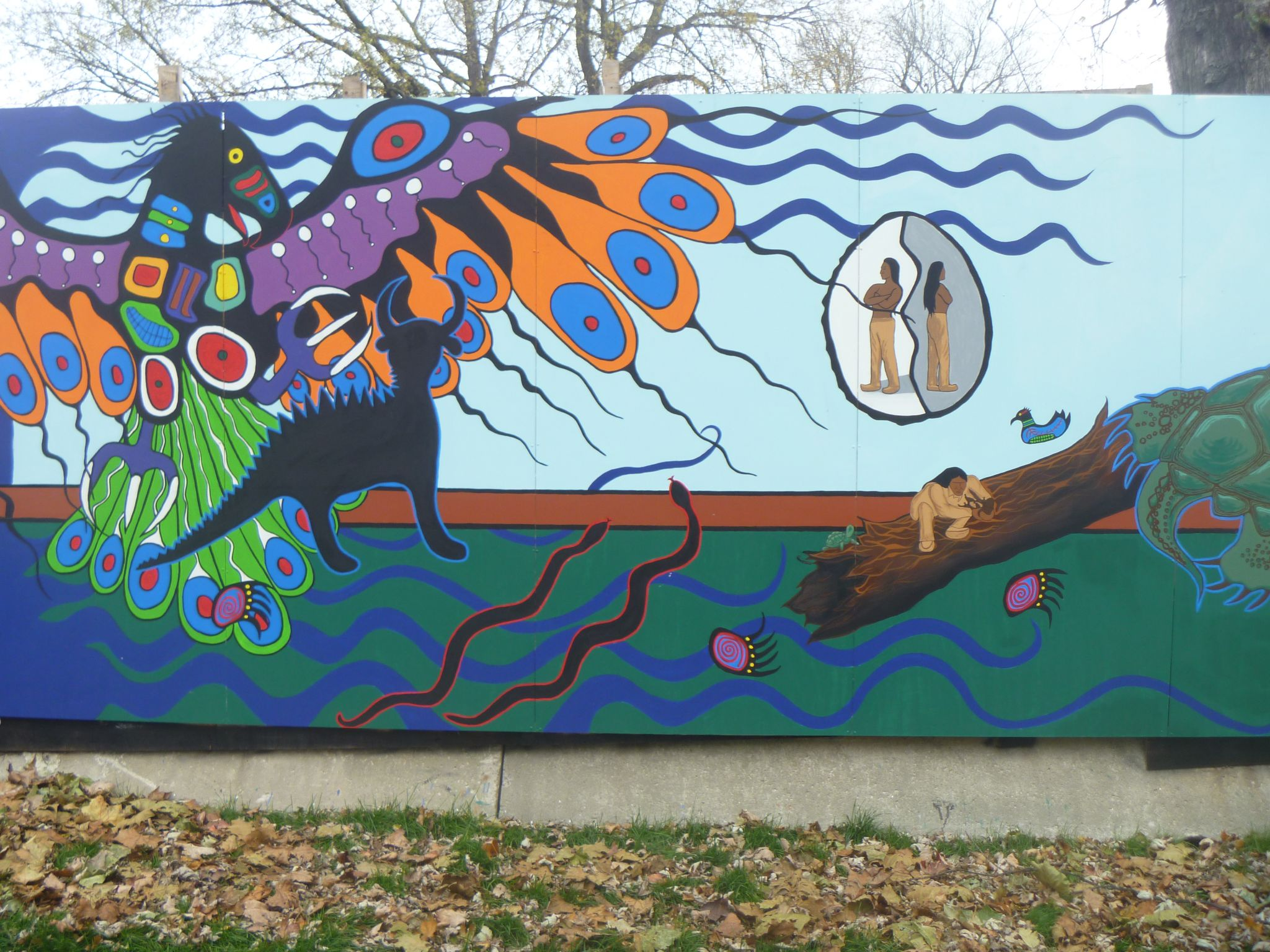 First Nations Mural Beautifies Toronto Construction Site