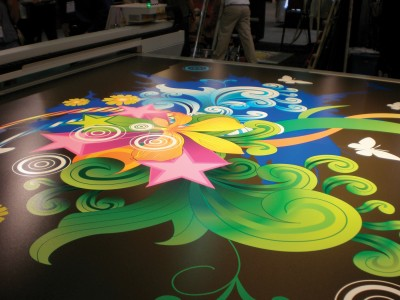 In-line white ink can be helpful when printing images on clear substrates, such as window graphics.