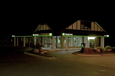 These Toronto-Dominion (TD) Canada Trust branches in London, Ont., use LEDs to illuminate a variety of box signs.