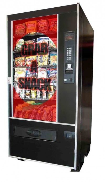 One of the first applications of translucent digital signage has been in vending machines.