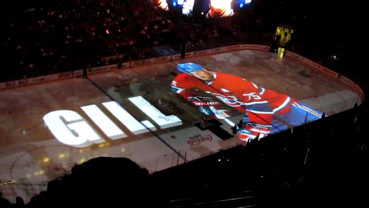 Habs Rink Surface Displays Full Motion Video Sign Media