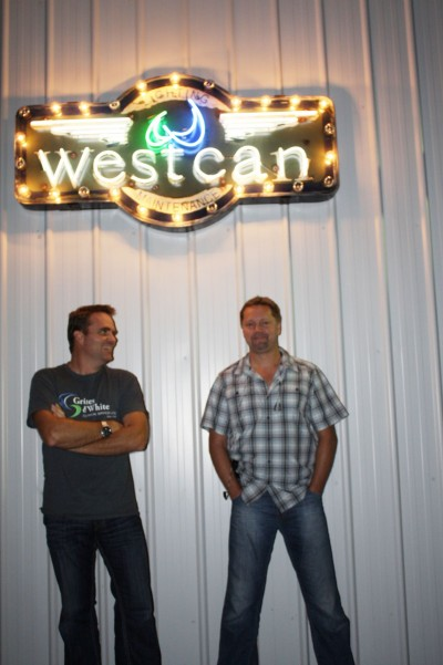 Chris Davies (left) and John (right) Thomasen incorporated Westcan Sign & Lighting Service in 2009 to serve the Alberta market. Photos courtesy Westcan Sign & Lighting Service