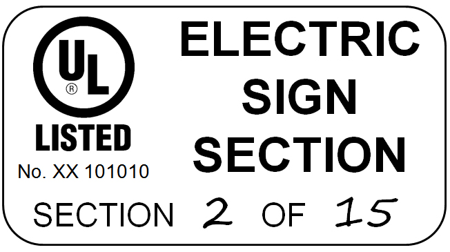 markings and installation instructions