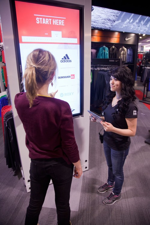 Customers and employees alike can interact with hundreds of screens.