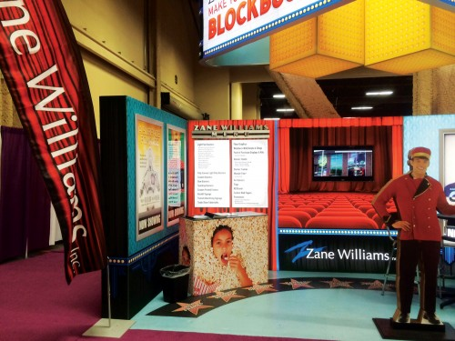 The low weight and ease of handling and storage of fabric graphics have garnered favour in the trade show exhibitry market.