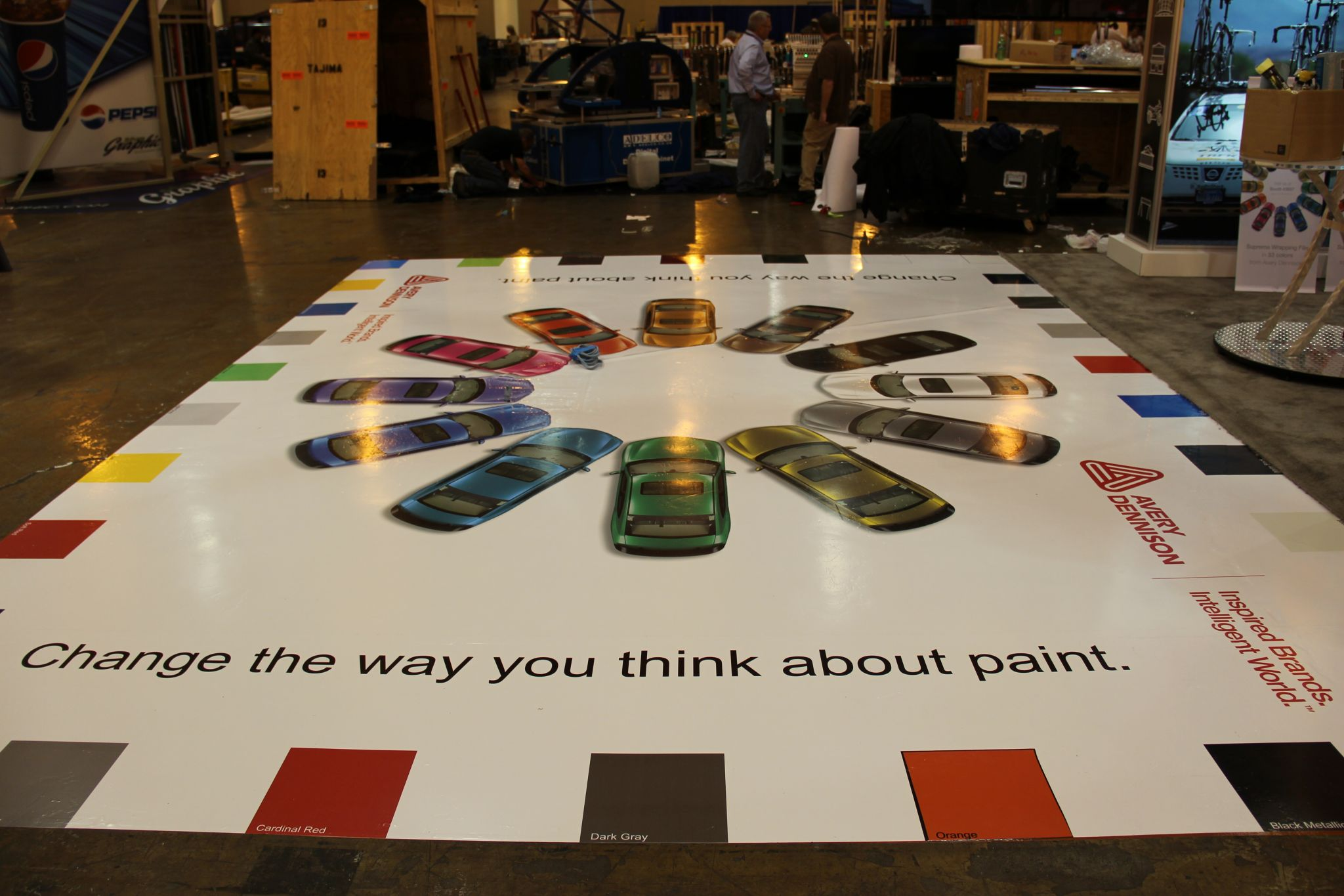Wide format printing the versatility of lamination sign for Floor graphics