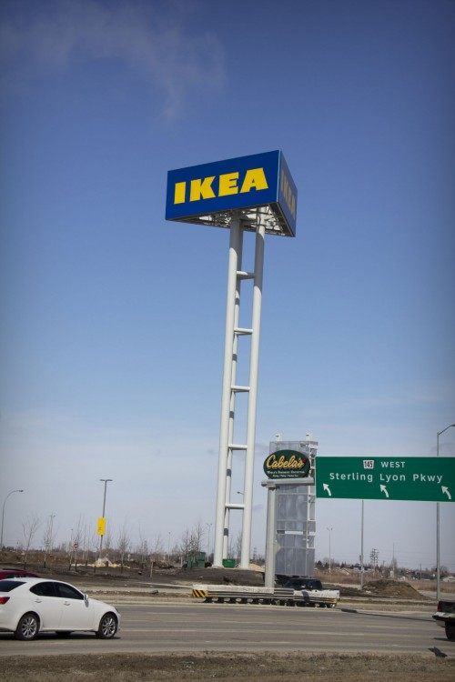 In 2013, Signex was commissioned to build pylons and other signs for Winnipeg's new Ikea store.