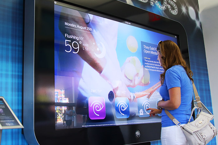 U S Open Serves Up Digital Signage Sign Media