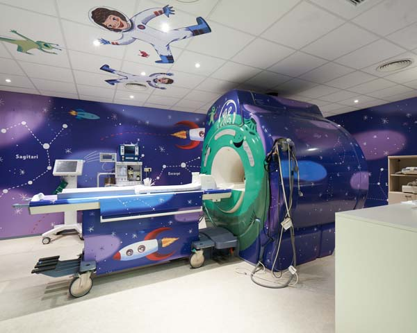 Mri Machine Wrapped To Comfort Kids Sign Media