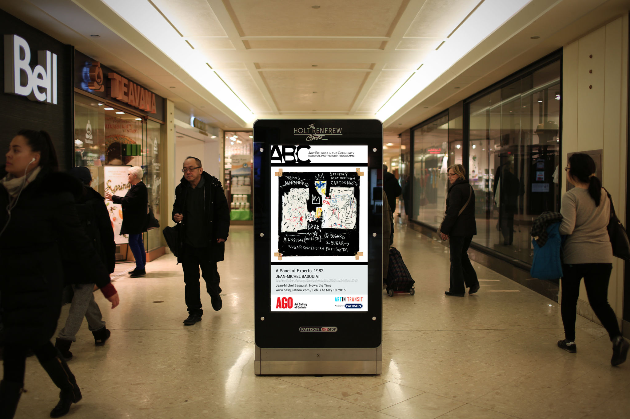Malls partner with art galleries in digital signage for Exterior standalone retail