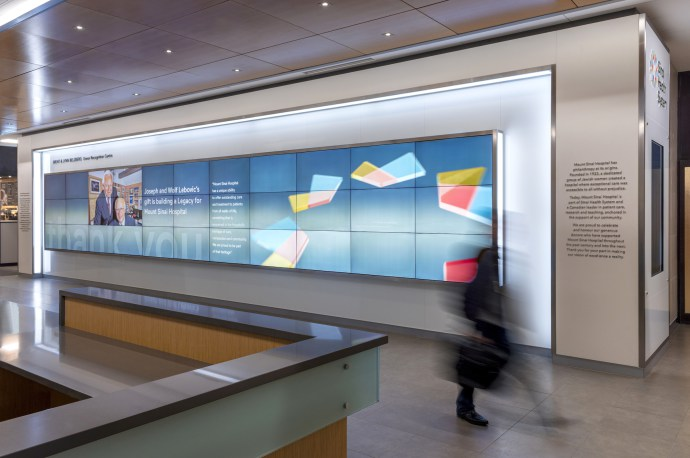 Mount Sinai Hospital S Donor Recognition Wall Goes Digital