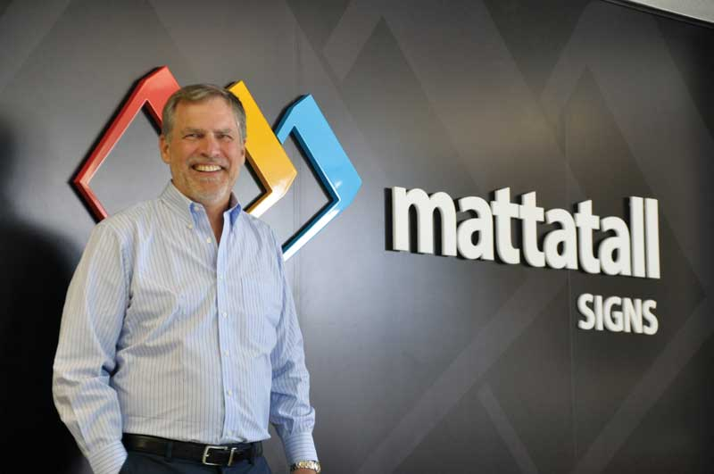 Robert E. Mattatall, founder, president and CEO, of Mattatall Signs in Dartmouth, N.S.