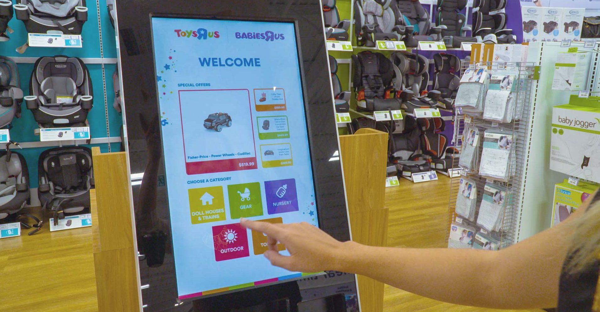 Toys R Us kiosks in Langley, B.C., win 2018 Digi Award - Sign Media