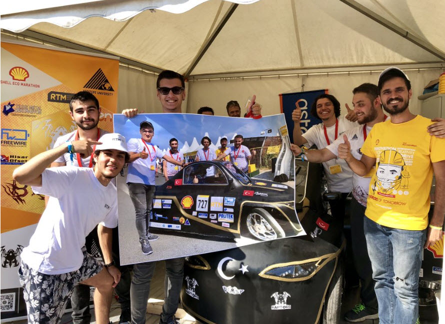 Shell Eco-marathon participants used Drytac's SpotOn SynPaper to apply colourful graphics on racing cars.