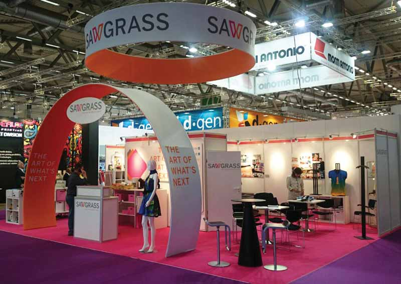 Sublimated signage was used to dress this trade show booth.