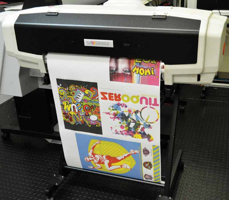 The artwork is first printed onto transfer paper.
