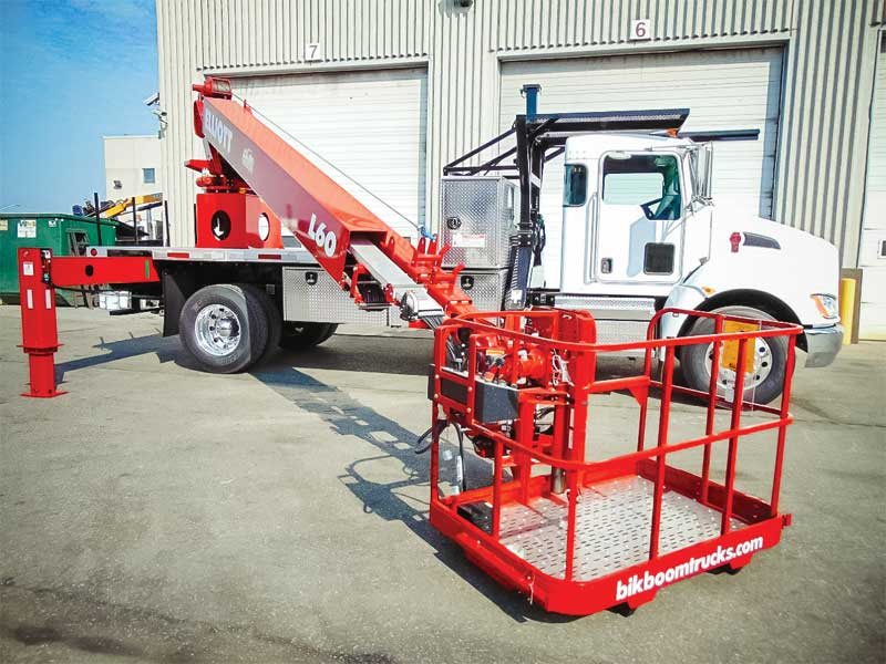 If a sign installer finds that an 18-m (60-ft) boom reach allows him/her to complete most of their projects and feels this equip-ment fulfils their needs, than he/she has selected the right truck.