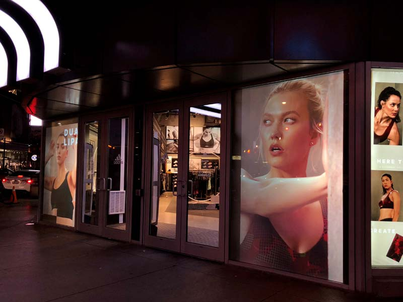 FrontRunner Technologies recently used digital signage to transform an Adidas Canada store window in downtown Toronto.