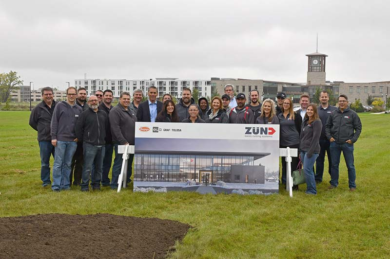 Distribution company Zund America has begun construction on its new North American headquarters.