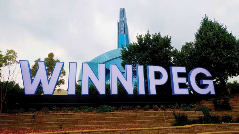 The Winnipeg sign was a huge undertaking for SRS. The project required a concentrated team effort, reliant on the experience and craftsmanship of dedicated employees.