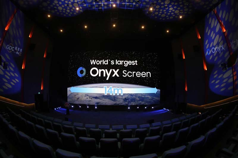 Samsung Electronics recently installed its largest Onyx screen to-date at a cinema in Beijing.