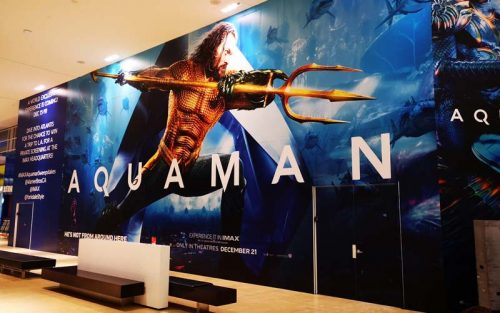 A 76-m (250-ft) movie poster at the Yorkdale Shopping Centre in Toronto was created and installed in five days by Global Printing Enterprises in Mississauga, Ont., using Drytac graphics media.