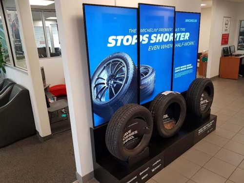 Groupe Touchette, a Canadian-owned distributor of automobile tires, has installed interactive point-of-purchase (POP) digital signage stands from iGotcha Media at nine Nissan/Infiniti dealerships across Canada.