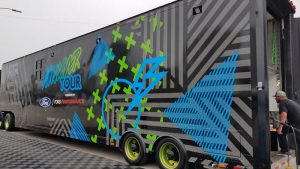 Bullitt Auto Detail and Vinyl Wraps applied a vinyl film to a 16-m (53-ft) trailer.