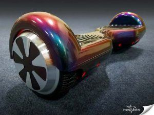 Vehicle Wraps Inc., used vinyl to give a hoverboard a shade-shifting look.