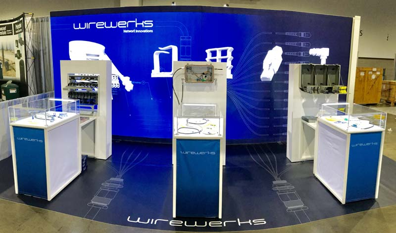 PNH Solutions recently completed a custom, modular trade show booth, complete with two self-standing lightboxes, three display units, and adhesive flooring.